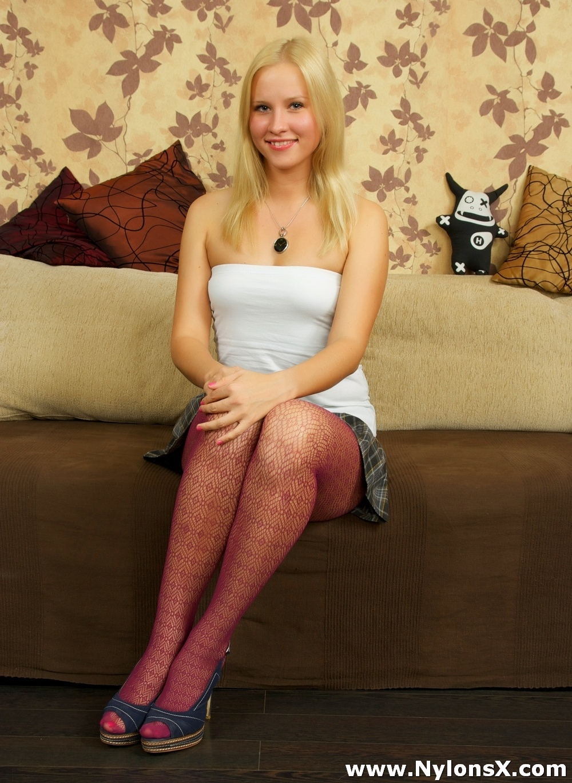 Petite Blonde Teen Braces